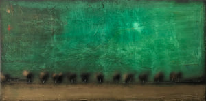 """Emerald World"" 72""X36"" Mixed Media on Canvas SOLD"