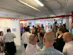 Exhibitors Group Show  - artist reception TriBeCa New York 500  SS