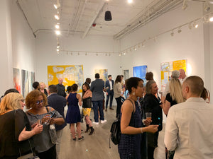 exhibitors premier gallery - artist reception TriBeCa New York 10,000  LM