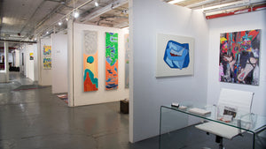 exhibitors booth- artist reception TriBeCa New York 1350 SS