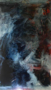 """Mud Puddle"" 96""X48"" oil and resin"