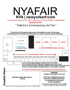 8X10 exhibitors booth - artist reception NYA TriBeCa New York 1500 LM