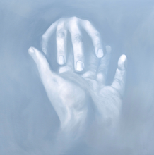 "Load image into Gallery viewer, ""Loving Hand"" By Kristine Morrow, Oil on Canvas"