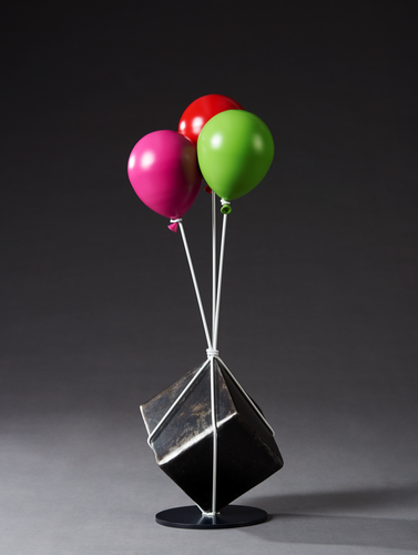 'Cube and Balloon' by Kang Ok Jeon, 2017, Stainless Steel
