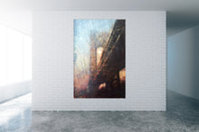 "Load image into Gallery viewer, ""Manhattan Bridge"" by Norbert Waysberg, Watercolor on Canvas"