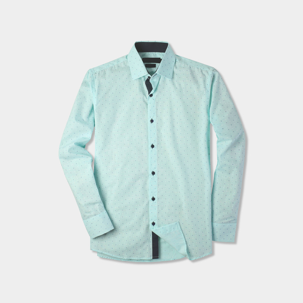 classic shirts_formal shirts_formal shirts for men_formal clothes for men_button down shirt_button down_mens long sleeve button down_Mint Dot