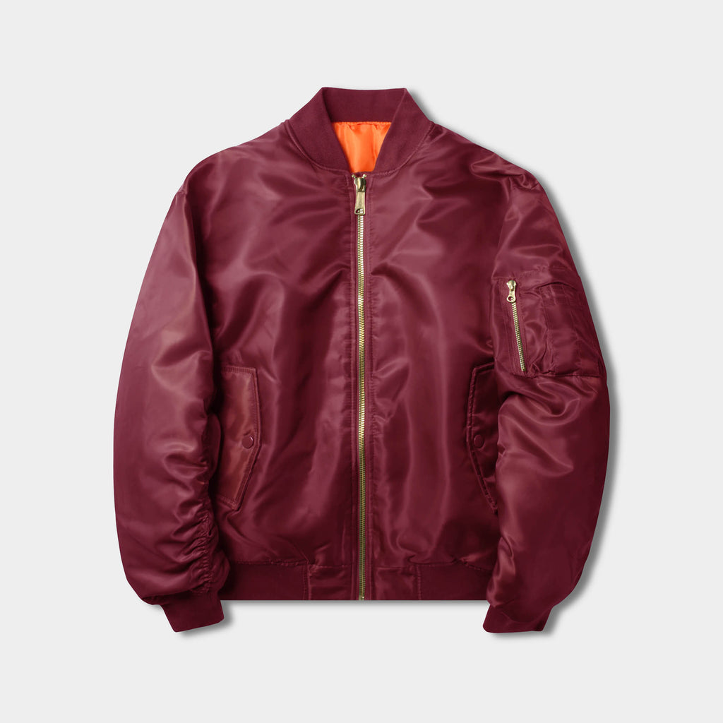 mens bomber jacket_black bomber jacket mens_aviator jacket mens_superdry bomber jacket_mens bomber jacket sale_best bomber jackets_Burgundy