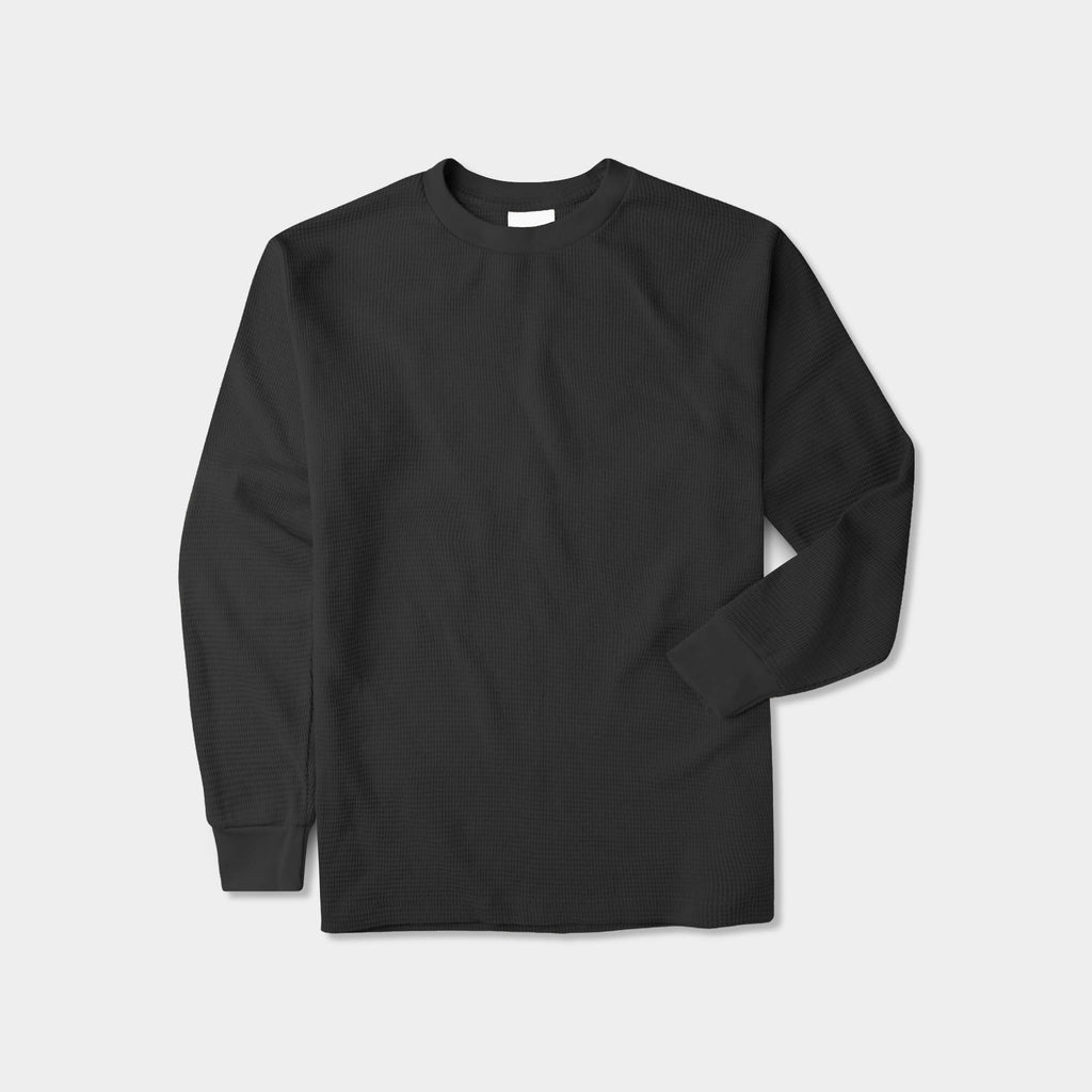 thermal shirt_thermal long sleeve_mens thermal shirt_long sleeve thermal shirts_mens thermal long sleeve_thermal clothing mens_Black