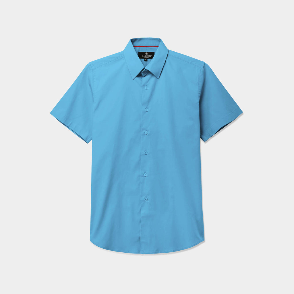 stretch dress shirt_stretch shirts_t shirt stretch_stretch cotton shirt_mens stretch shirts_slim fit stretch_mens stretch dress shirts_Aqua Blue