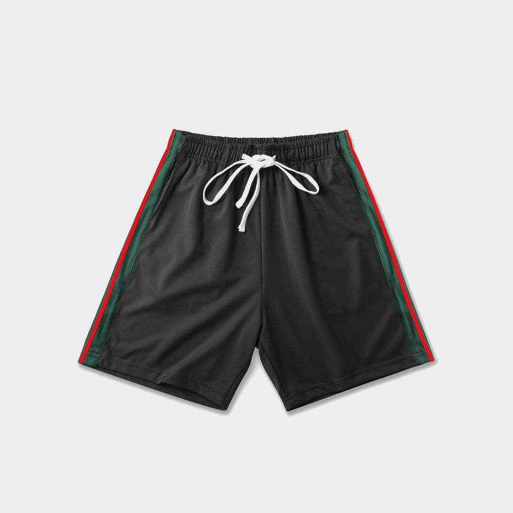 track shorts_track shorts mens_hind running shorts_boys track shorts_gucci shorts_gucci shorts mens_gucci shorts cheap_Black/Red