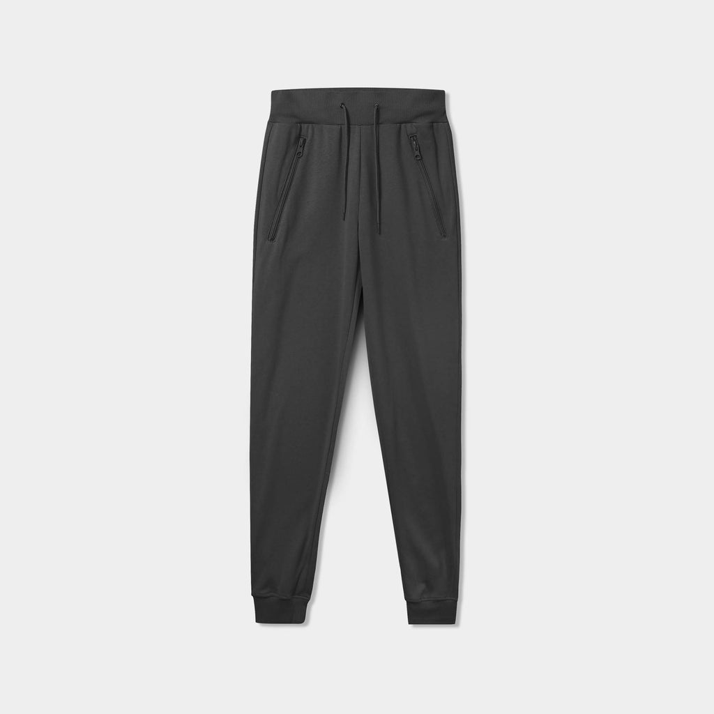 sweatpants with zipper pockets_sweatpants with zippers_men's sweatpants with zipper pockets_skinny jogger_mens skinny joggers_skinny sweatpants_boys skinny joggers_Charcoal