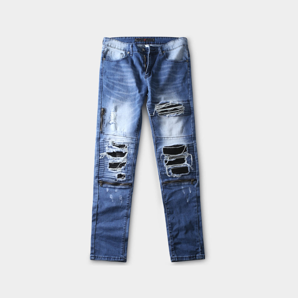 ripped jeans_distressed jeans_ripped skinny jeans_tattered jeans_blue ripped jeans_boys ripped jeans_men's ripped jeans_Light Blue