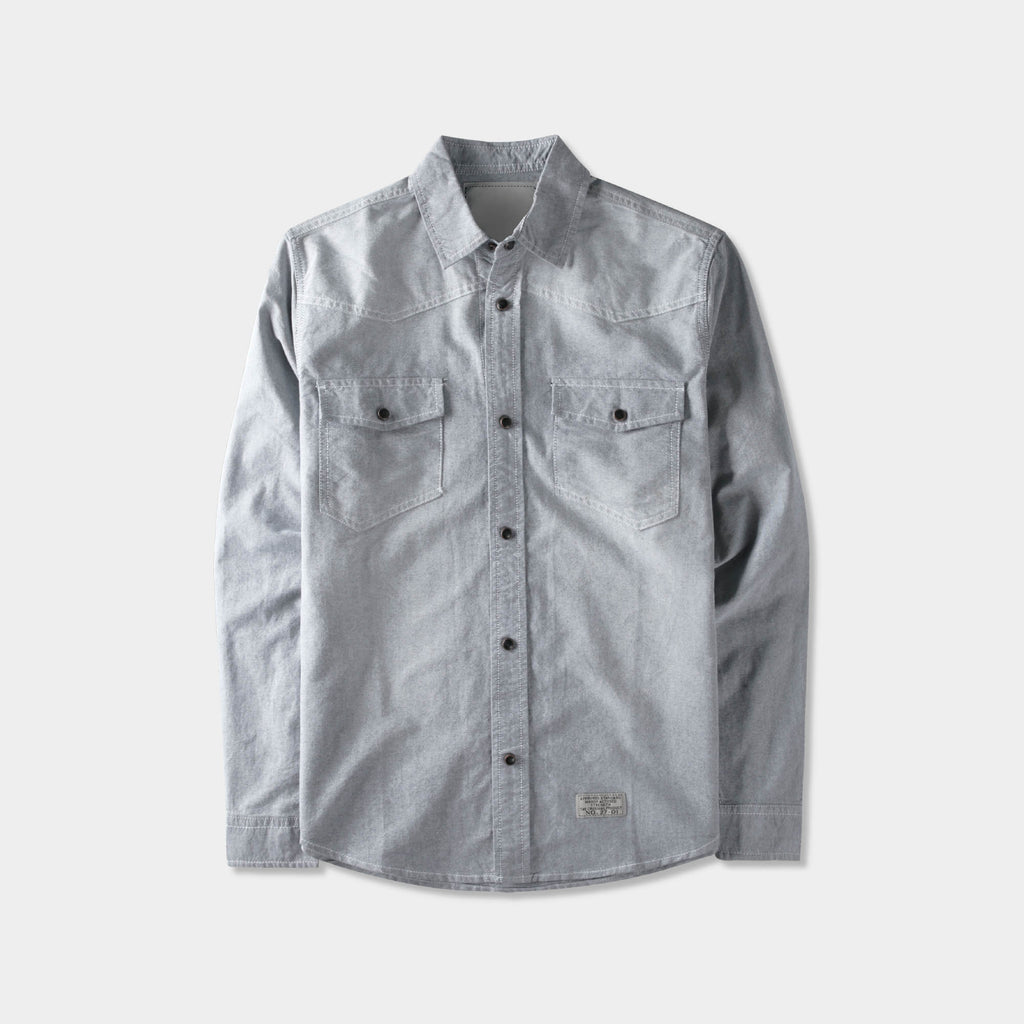 denim shirt_denim shirt men_jeans shirt_denim button up_boys denim shirt_mens denim shirts long sleeve_denim long sleeve shirt_Gray