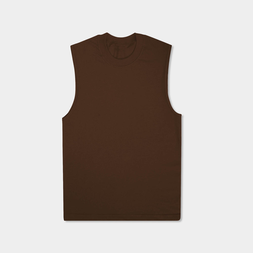 muscle tank_muscle tee_muscle tank tops_cropped muscle tank_under armour muscle shirt_insta slim tank_men muscle shirt_tank top_Brown