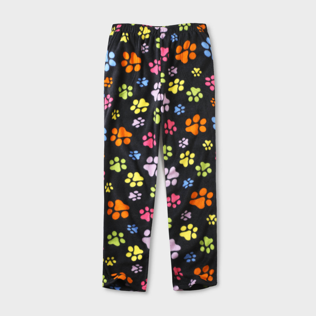 pajama pants_mens pajama pants_mens lounge pants_old navy pajama pants_pajama bottoms_pj pants_fuzzy pajama pants_family pajama pants_Black/Color Paw