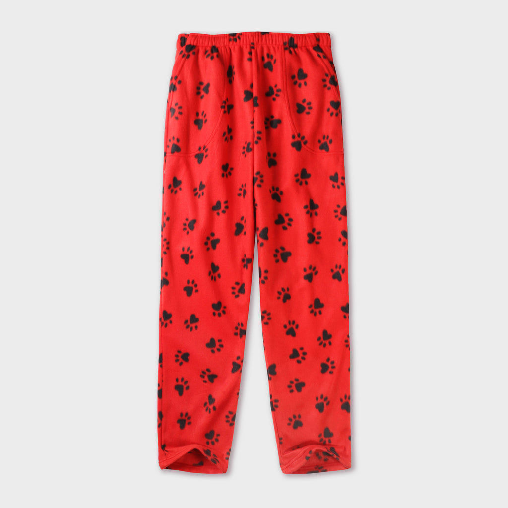pajama pants_mens pajama pants_mens lounge pants_old navy pajama pants_pajama bottoms_pj pants_fuzzy pajama pants_family pajama pants_Red/Black Paw