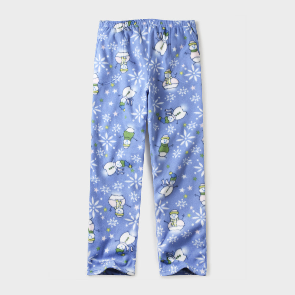 pajama pants_mens pajama pants_mens lounge pants_soft pajama pants_pajama bottoms_pj pants_soft lounge pants_family pajama pants_Baby Blue Snowman