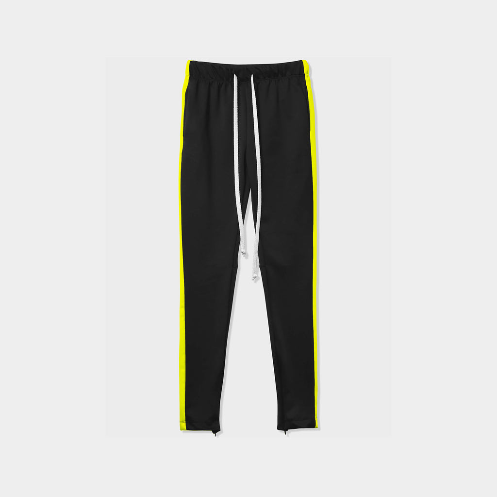 jogger_striped joggers_striped sweatpants_velvet joggers mens_sweatpants_side stripe joggers mens_champion sweatpants_champion joggers_mens joggers_Black/Lime