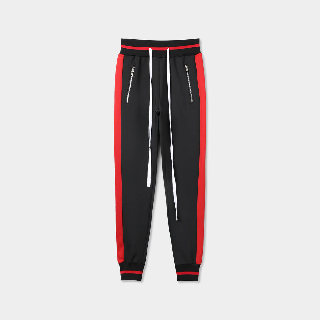 skinny jogger_mens skinny joggers_skinny sweatpants_boys skinny joggers_super skinny joggers_skinny tracksuit_thin sweatpants_mens skinny sweatpants_Black/Red