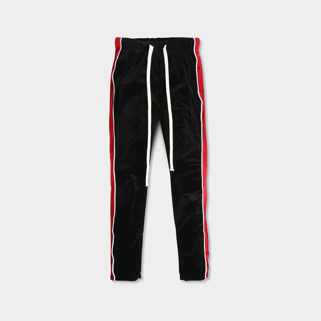 velvet jogger_velvet sweatpants_crushed velvet joggers_velvet joggers mens_gap velvet joggers_crushed velvet sweatpants_champion sweatpants_champion joggers_Black/Red