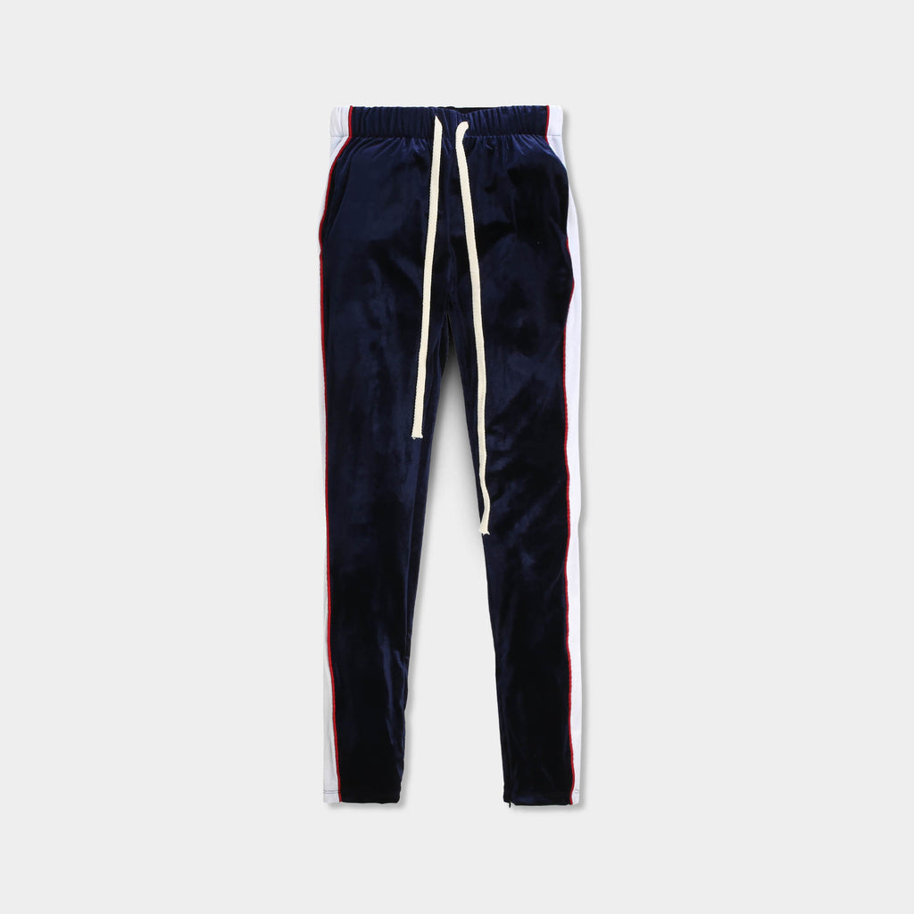 velvet jogger_velvet sweatpants_crushed velvet joggers_velvet joggers mens_gap velvet joggers_crushed velvet sweatpants_champion sweatpants_champion joggers_Navy/White