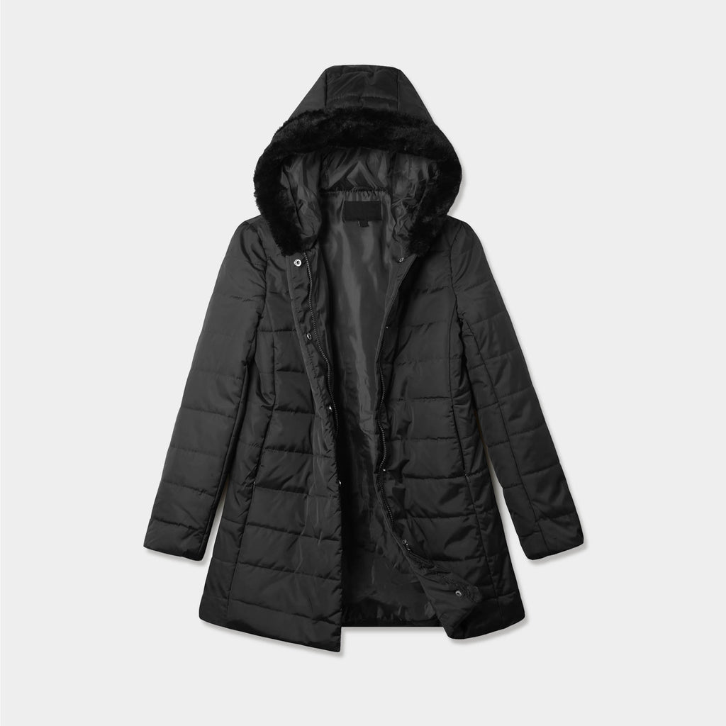 puffer coat_bubble jacket_bubble coat_womens puffer coat_down coat_long puffer coat_long down coat_down coat women_h&m puffer jacket_Black