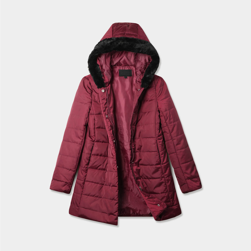 puffer coat_bubble jacket_bubble coat_womens puffer coat_down coat_long puffer coat_long down coat_down coat women_h&m puffer jacket_Burgundy