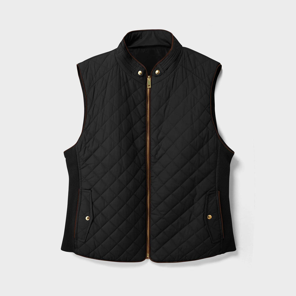 women vest_women puffer vest_sweater vest women_sweat vest for women_ladies vests_women's dressy vests_women fashion vest_Black