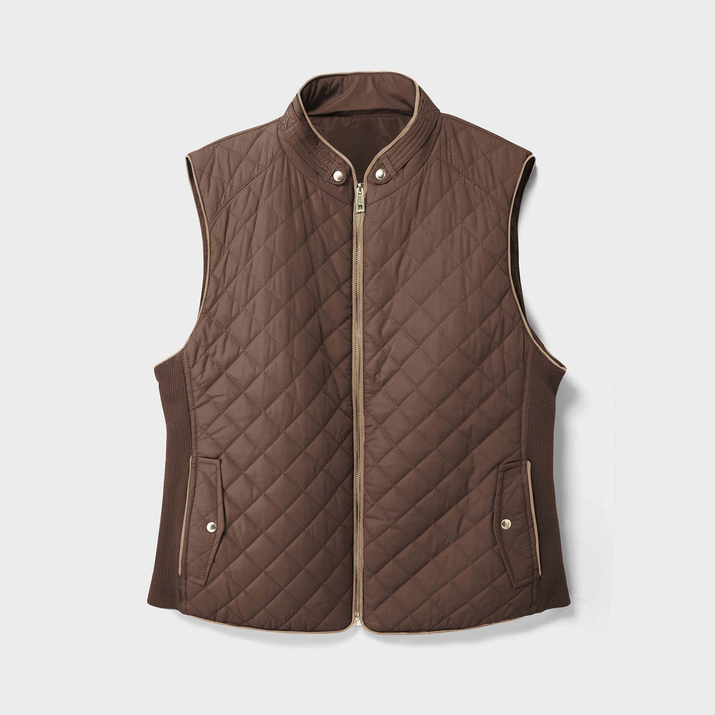 women vest_women puffer vest_sweater vest women_sweat vest for women_ladies vests_women's dressy vests_women fashion vest_Brown