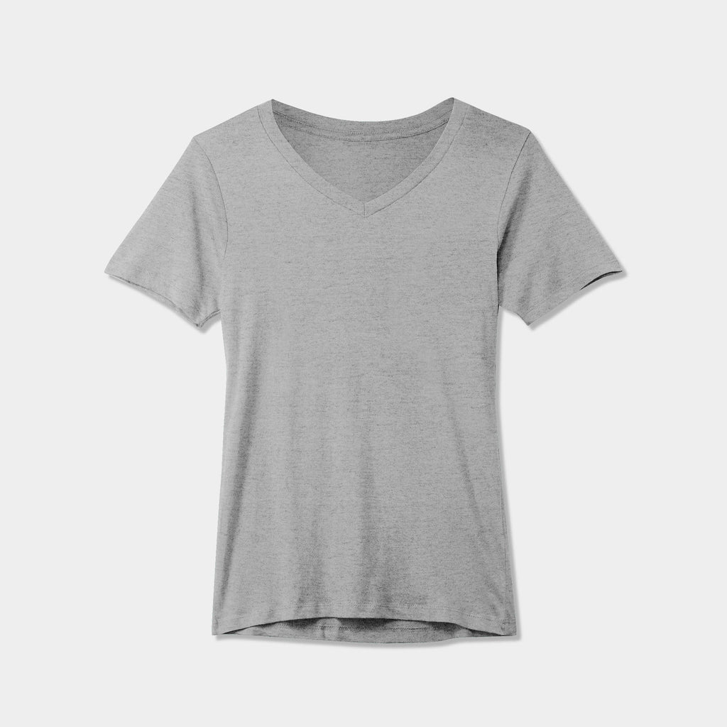women v neck_cotton_summer_tshirt_custom_supreme_printing_design_quality_stylish_premium vneck_soft_high_workout_yoga_pilates_women_girls_girl_blend_poly_durable_durability_maximum_champion_guess_uniqlo_couple_wholesale_tee_cheap_affordable_Athletic Heather