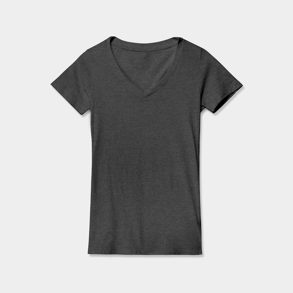women's v neck tee_v neck tee shirts_old navy v neck_v neck womens tops_best v neck t shirt_deep v neck shirt_long sleeve v neck t shirt_v neckline_Charcoal