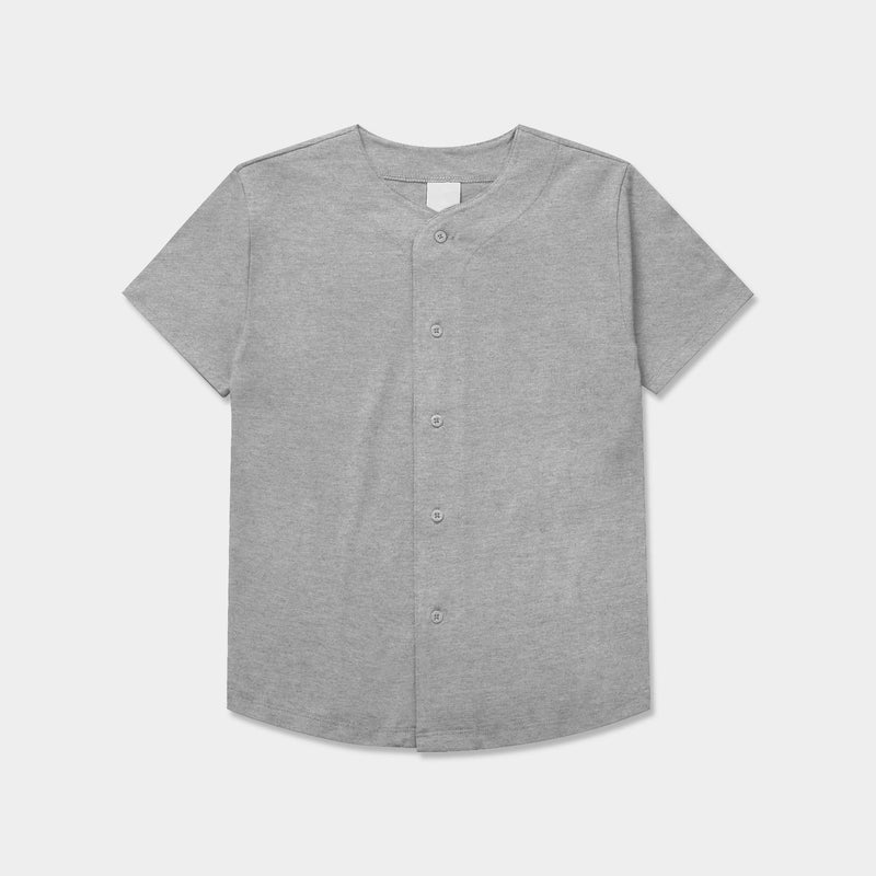 Kids' Button Down Cotton Baseball Jersey