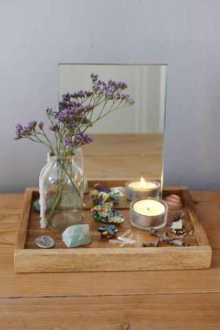 Altar for balance.Libra full moon. Full moon ceremony. Ritual for balance.