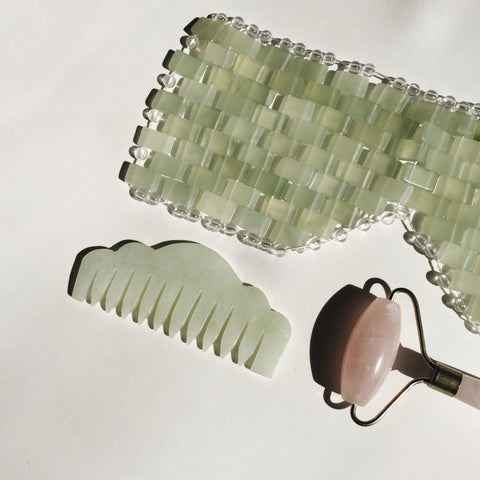Self Ceremony Jade Mask Rose Quartz Roller Jade Comb
