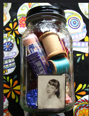 Small altar in a jar. Sacred space for uncertain times. Self Ceremony. Balance.
