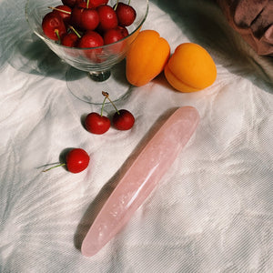 rose quartz yoni. personal care. crystal wand sensual higher self. self-love. self care ritual. crystal dildo.