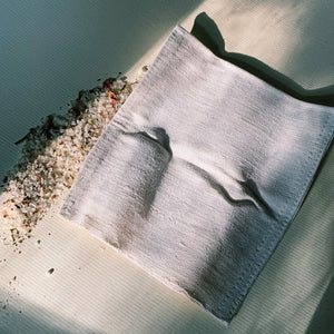 self-ceremony hemp wash cloth. hemp accessories. organic natural hemp. wash cloth. plastic-free skincare. natural skincare. facial.