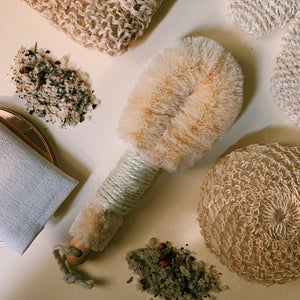 Dry brushing. Self Ceremony.Exfoliating.Brush.Massage