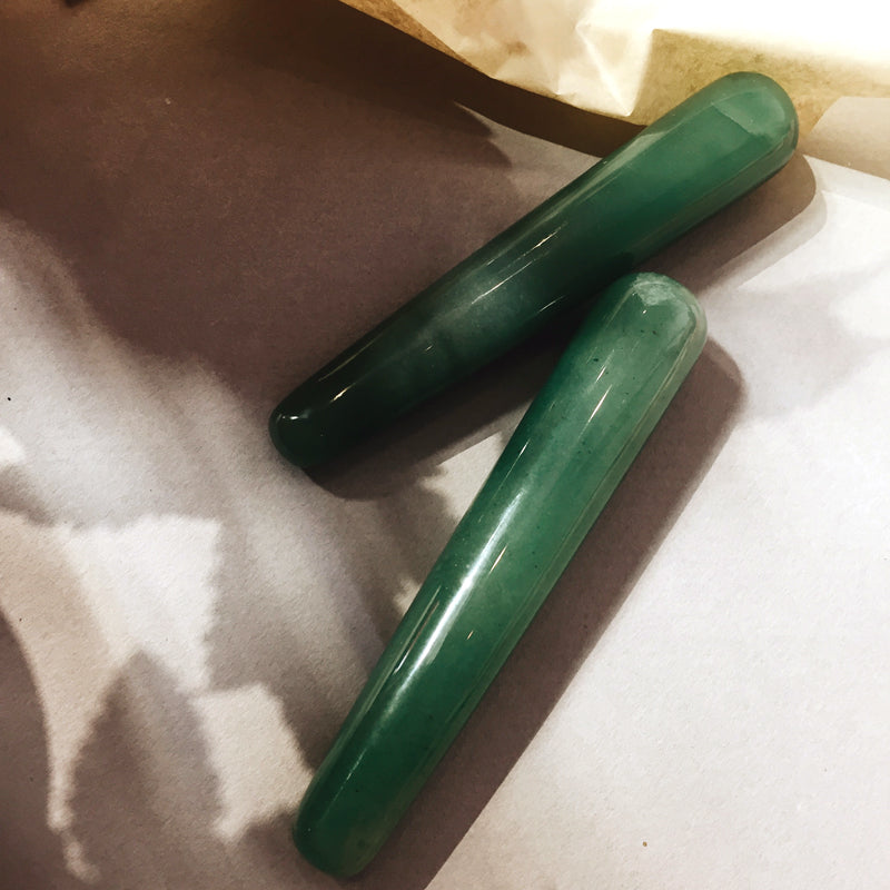 self ceremony pure aventurine crystal yoni wand. pleasure wand. crystal stone dildo. self-pleasure.