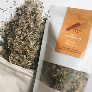 self ceremony herbal organic salt soak animo stimulating dead sea salt detox calendula