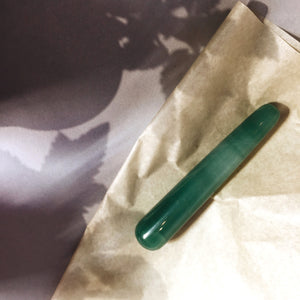 self ceremony pure aventurine crystal yoni wand. pleasure wand. crystal dildo.