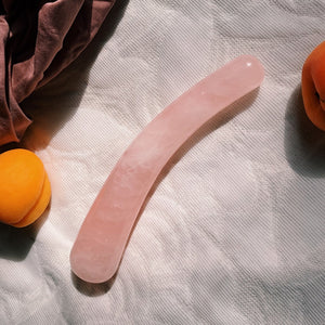 rose quartz yoni wand. self-pleasure.orgasms with crystals.personal care. crystal wand sensual higher self. self-love. self care ritual. crystal dildo.