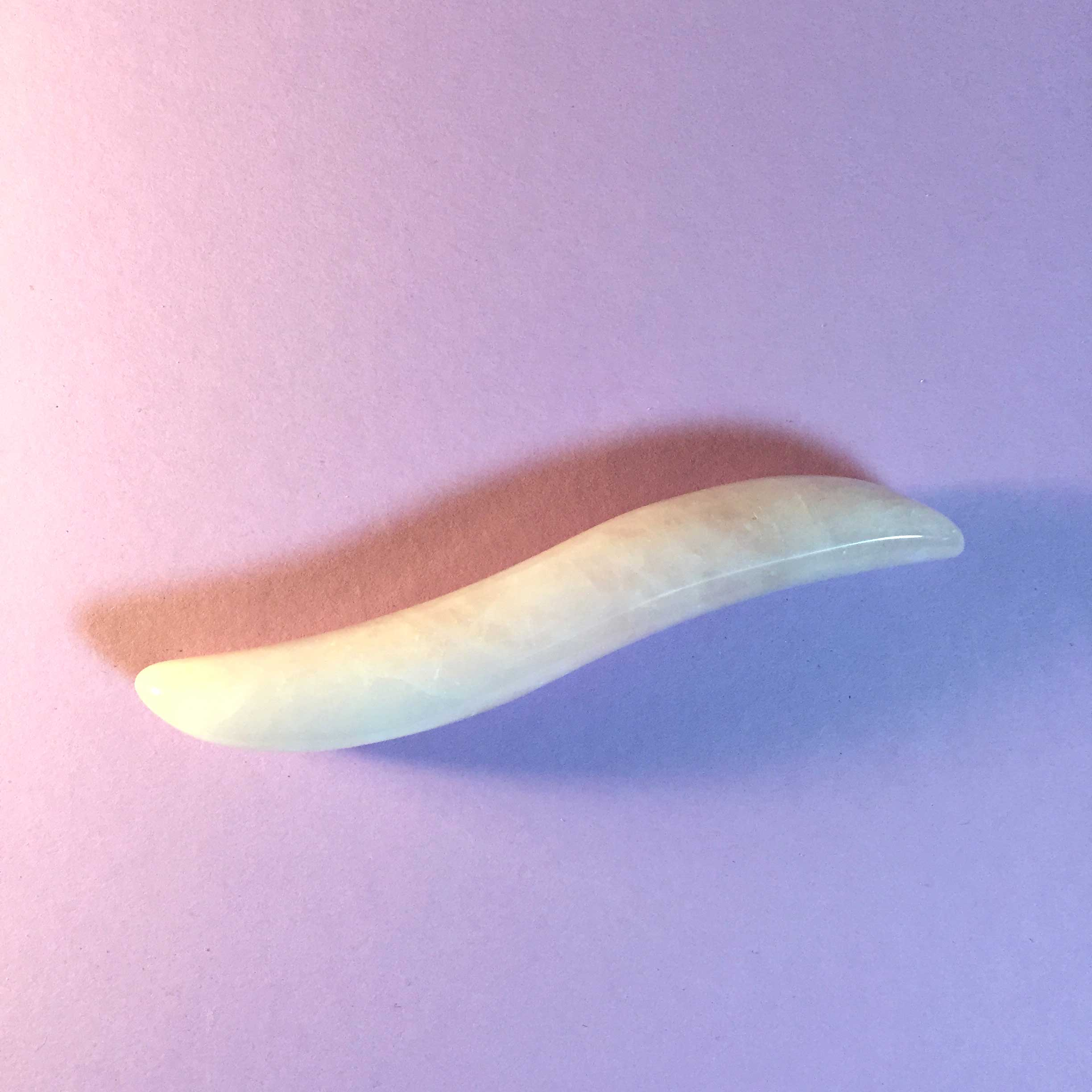 curved rose quartz pleasure wand