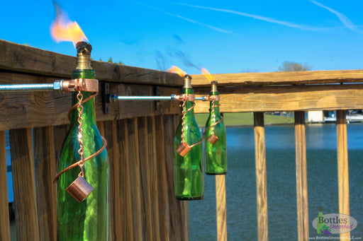 375ml Wine Bottle Tiki Torches - Blue Ridge Mountain Gifts