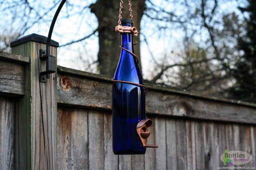 750ml Wine Bottle Bird Feeder - Blue Ridge Mountain Gifts