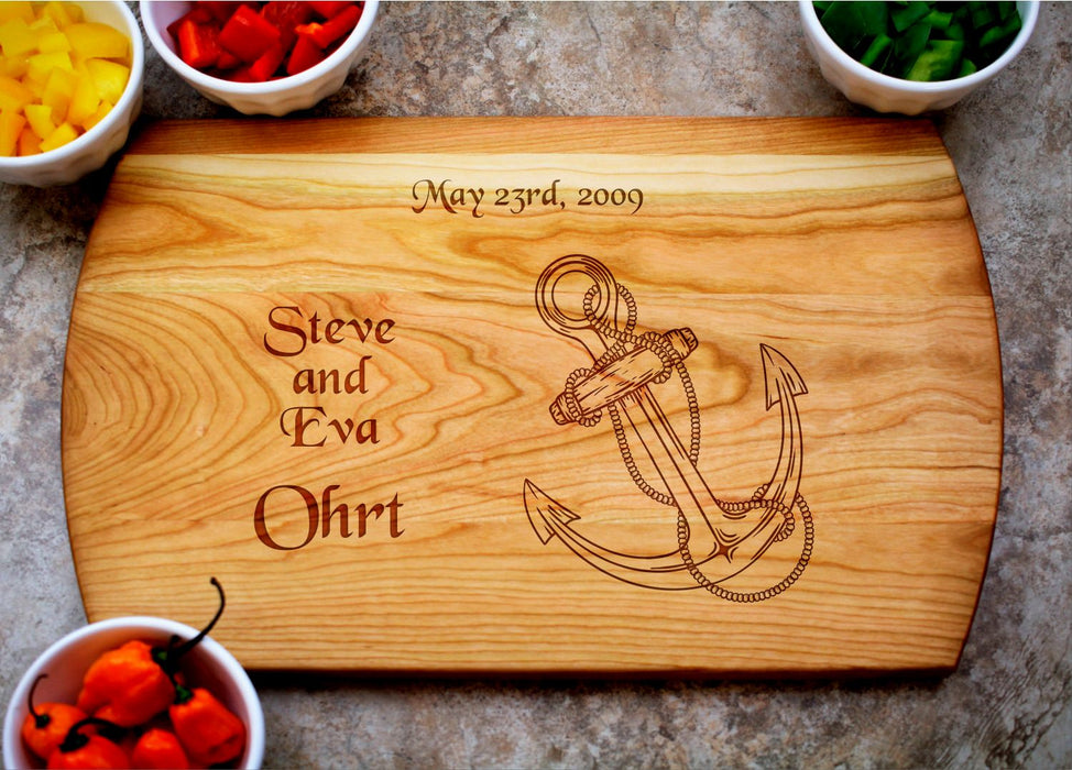 Anchor | Personalized Laser Engraved Cutting Board
