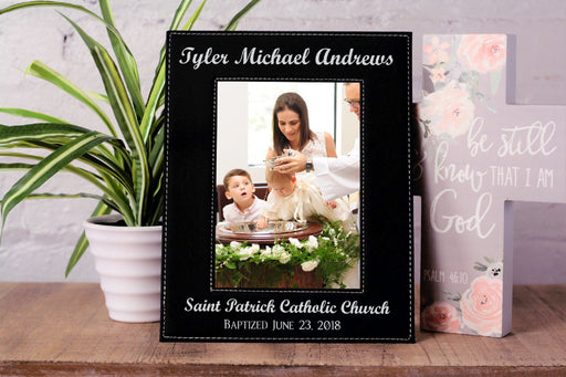 Baptism Church Name | Leatherette Picture Frame