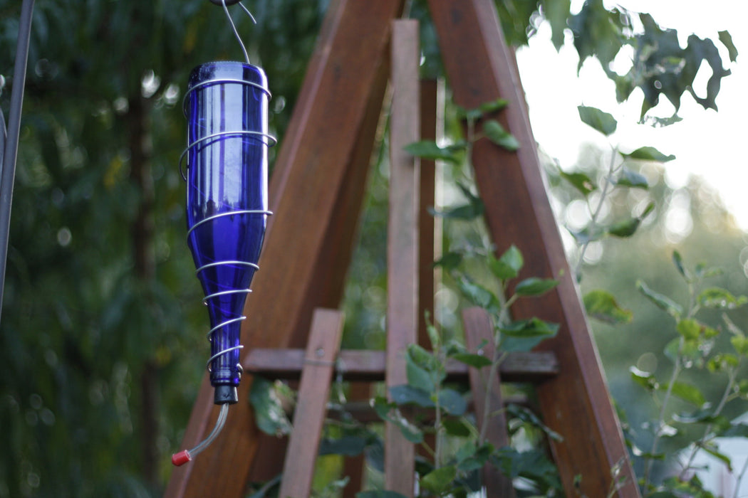 Wine Bottle Hummingbird Feeder - Blue Ridge Mountain Gifts