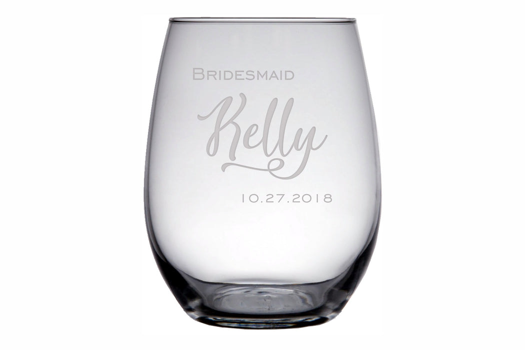Celebrate | 15oz Stemless Wine Glass