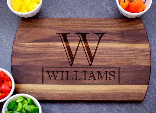 Chefs Monogram | Personalized Laser Engraved Cutting Board